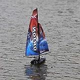 Generic 2.4G Racing Sailboat Model Rc Sailboat 8803 Large Remote Control Sailboat Blue