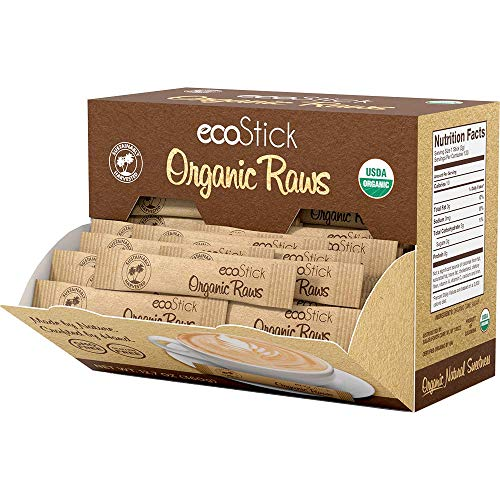 (ecoStick Sweetener Packets, Organic Raw Sugar, 120 Count (Pack of 4))