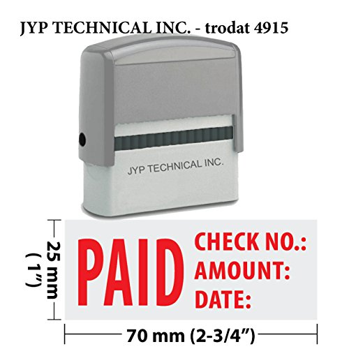 Extra Large Trodat 4915 Self Inking Rubber Stamp w. Paid, Check No., Amount, Date