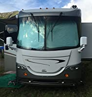 "RV Motorhome Collapsible Sunshade Class A LARGEST MADE -(2 panel shade) 2 qty. 50"" x 42"""