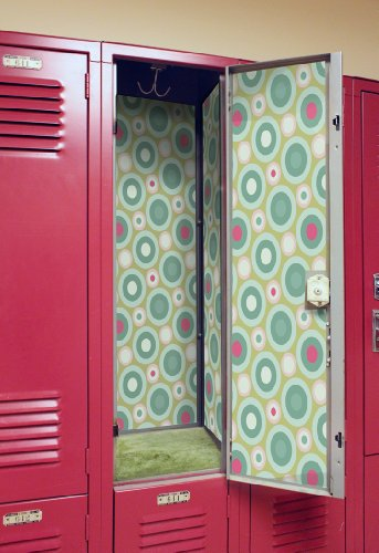 Locker Designz Deluxe Magnetic Locker Wallpaper, Mellow Circles - Custom Vinyl Shape Magnet