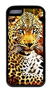 iPhone 5c case, Cute Tiger Drawing Effect iPhone 5c Cover, iPhone 5c Cases, Soft Black iPhone 5c Covers
