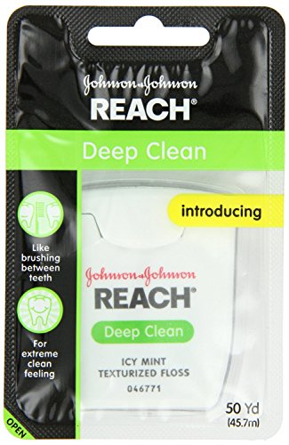 Reach Deep Clean Texturized Floss, Icy Mint, 50 Yard (Pack of 12)