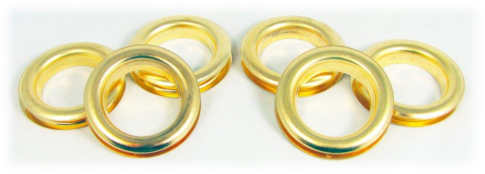 6pc. #12 (1.5'' hole diameter) Brass Grommets