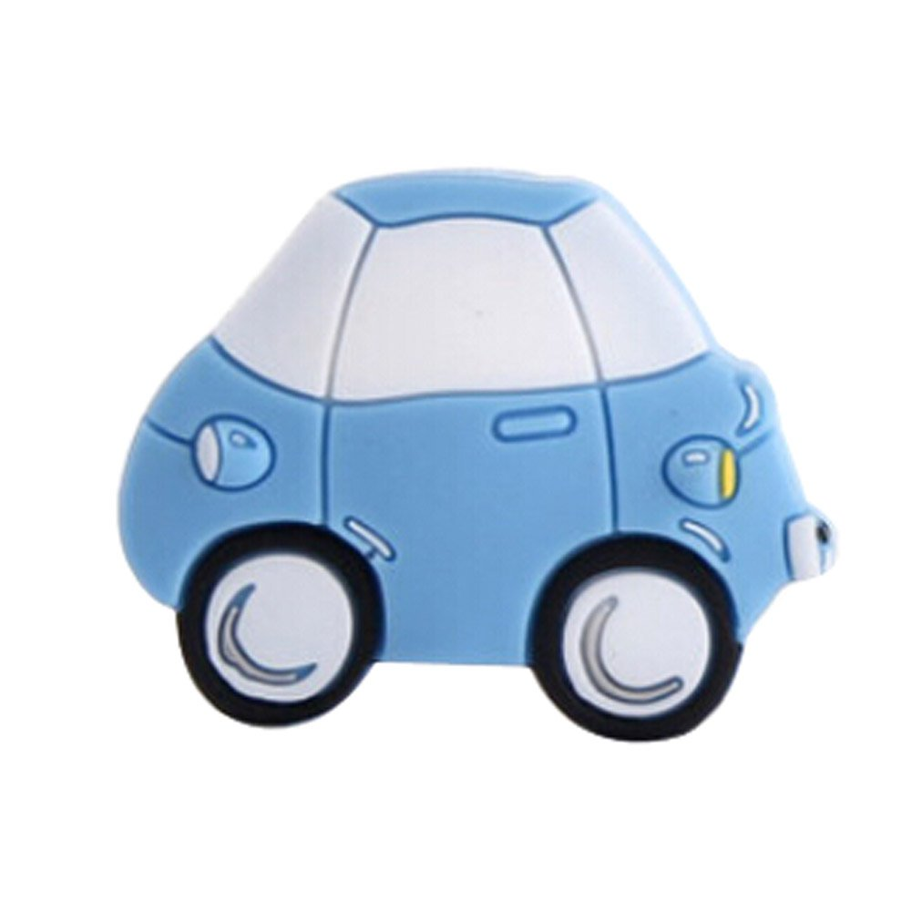Ensemble de 2 enfants Chambre Porte Poignées Cartoon Bleu Cartoon voiture tiroir Blancho Bedding