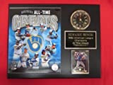 Brewers All Time Greats Collectors Clock Plaque w/8x10 Photo and Card