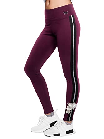 3d54e6cb949001 Image Unavailable. Image not available for. Color: Victoria's Secret Pink  New! Cotton Embroidered Legging ...