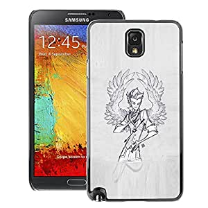 A-type Arte & diseño plástico duro Fundas Cover Cubre Hard Case Cover para Samsung Note 3 N9000 (Wings Angel Man Sketch Grey Painting)