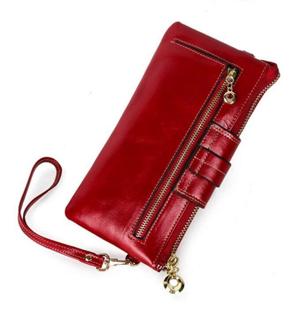 2 Evening Clutch Bag Women's Leather Wallets RFID Blocking Vintage Design Large Capacity Purse Handbag (color    3)