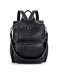 Women Backpack Purse UTO PU Leather Ladies Rucksack Convertible Single Shoulder Tote Bag