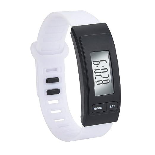 OHQ Reloj Run Step Reloj Pulsera PodóMetro Calor Contador Digital LCD Walking Distance Pulsera Reloj Inteligente Marcar El Reloj Reloj ElectróNico: ...