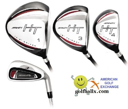 Affinity/Orlimar Golf Men's HT Edition Golf Club Set; with Hybrid Irons Right Hand: Tall Length; Fast Shipping!, GRAPHITE SHAFT WOODS; 3and4 HYBRIDS; U-CUT 5 IRON through PITCHING WEDGE, Outdoor Stuffs