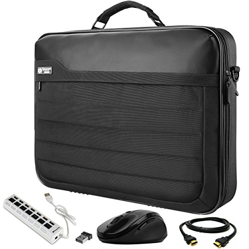 VanGoddy Laptop Briefcase Bag with HDMI Cable, Mouse, and USB Hub Suitable for AOC e1759Fwu 17-Inch Portable Monitor