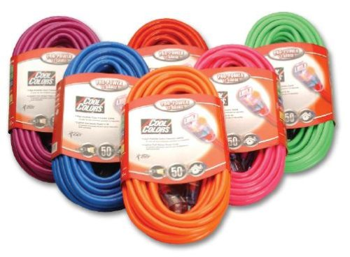 Coleman Cable 02578-0H 50-Foot 12/3 Neon Outdoor Extension Cord ...