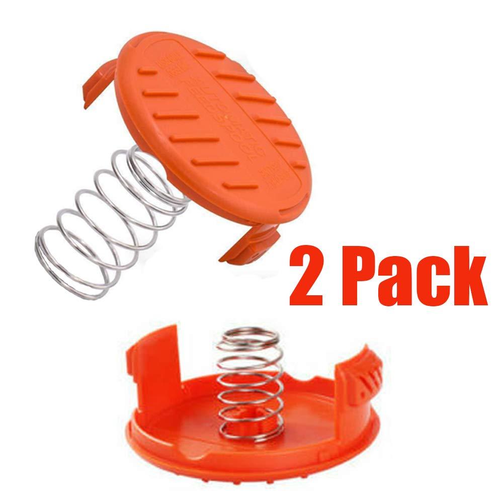 Fadenspule rasentrimmer ersatzspule Kabel Spulendeckel Kompatibel mit Black und Decker AF-100-3ZP 4 St/ücke Ersatzspule und 2 St/ücke Spulendeckel