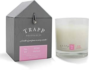 Trapp Signature Home Collection No. 63 Pure Peony Poured Scented Candle, 7 Ounce - Set of 2