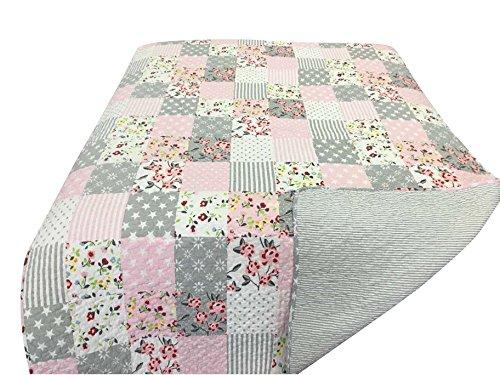Quilt, Pink patchwork 180 X 130 [A]