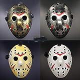 SaveStore Jason Voorhees Friday The 13th Horror Movie Hockey Mask Scary Halloween Mask