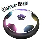 FUNTOK Air Power Soccer Disc Hover Ball Toys With Foam Bumpers Electric Colorful LED Lighting And Music For Indoor And Outdoor Disk Sport