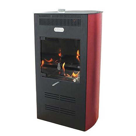 Estufa bioetanol 3000 W Ventilata 3 Velocidad Burdeos Calefacción Ruby Elegance