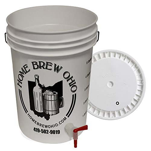 6.5 Gallon Bottling Bucket with Lid and Spigot for Bottling Beer
