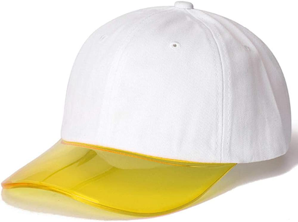 HGHGB Colorful Transparent Baseball Cap Women Plastic Visor Hat Sunshade Cap for Women Adjustable Outdoor Sports Cap