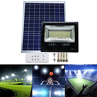 SZYOUMY Double Color Street Lamp 30W-150W LED Solar Panel Flood Night Light with Remote for Outdoor Garden Decoration Landscape Spotlight Wall Lamp Bulb