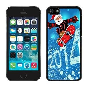 Personalized Customized 2014 Iphone 5C TPU Case Merry Christmas Black iPhone 5C Case 1