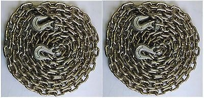 """(2) Transport Binder Chains With Grab Hooks - 3/8"""" x 20' grade 70 from Generic"""