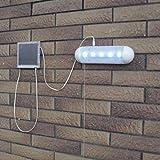 Iuhan Solar energy saving Super Bright 5 LED lighting outdoor courtyard waterproof light bulb (A, A)
