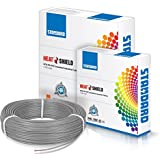 Standard Single Core PVC insulated HTR FR Wire 1 sq mm wire (Grey)