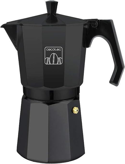 Ideal para 6 tazas de caf/é. Cecotec cafetera italiana Mimoka 600 Black fabricada en aluminio fundido de alta calidad para hacer caf/é con el mejor cuerpo y aroma
