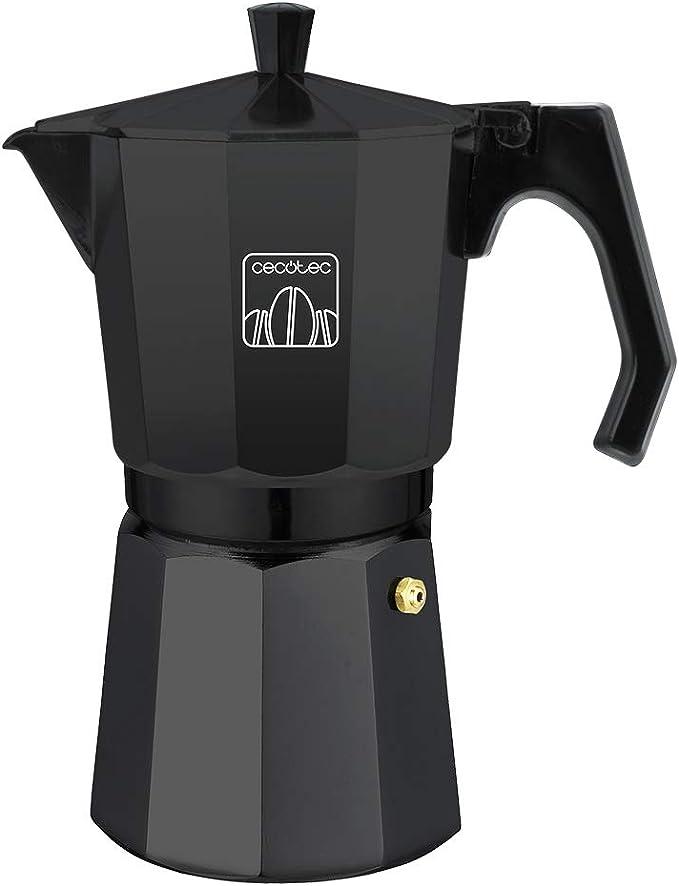 Cecotec Cafetera italiana Mimoka 1200 Black. Fabricada en aluminio fundido, Apta para todo tipo de cocinas, Para 12 tazas de café: Amazon.es: Hogar