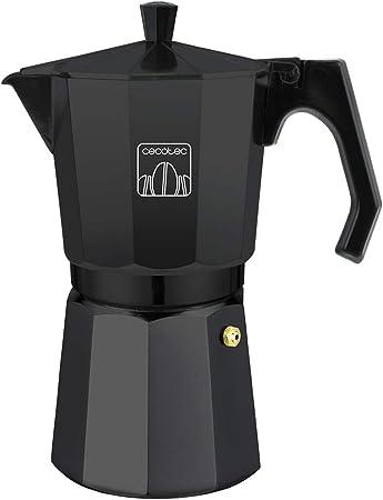 Cecotec Cafetera italiana Mimoka 600 Black. Fabricada en aluminio fundido, Apta para todo tipo de cocinas, Para 6 tazas de café: Amazon.es: Hogar