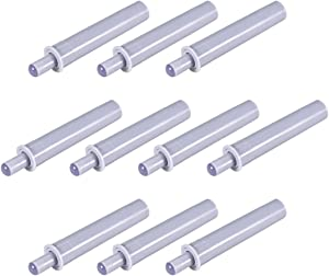 uxcell Damper Buffers Push to Open System Soft Quiet Close Closer Catches for Cabinet Door Drawer Gray 10pcs