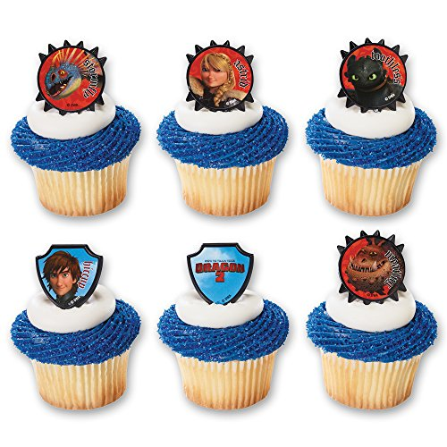 DecoPac How to Train Your Dragon 2 Hiccup and Friends Cupcake Rings (12 Count)