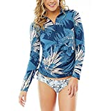 CARVE Designs Cruz Rash Guard, Large, Indigo Shade