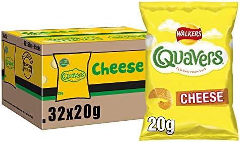 Walkers Crisps Quavers Cheese Snacks Box, 20 g (Caja de 32): Amazon.es: Alimentación y bebidas