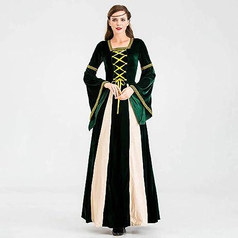 Bweele Vestido Medieval para Mujer, Disfraz de Reina ...