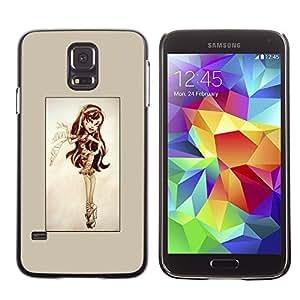 Caucho caso de Shell duro de la cubierta de accesorios de protección BY RAYDREAMMM - Samsung Galaxy S5 - Pin Up Lindo