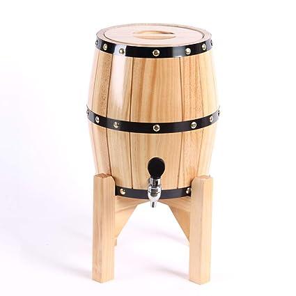 HQCC Barril de Roble, envase de Vino de elaboración casera, dispensador de Cerveza,