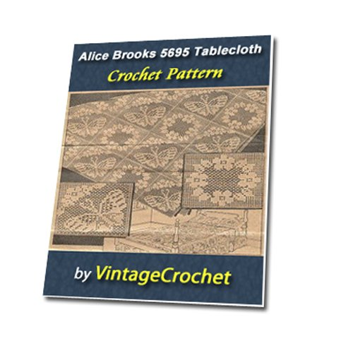 (Alice Brooks Filet Squares 5695 Vintage Crochet Pattern eBook)