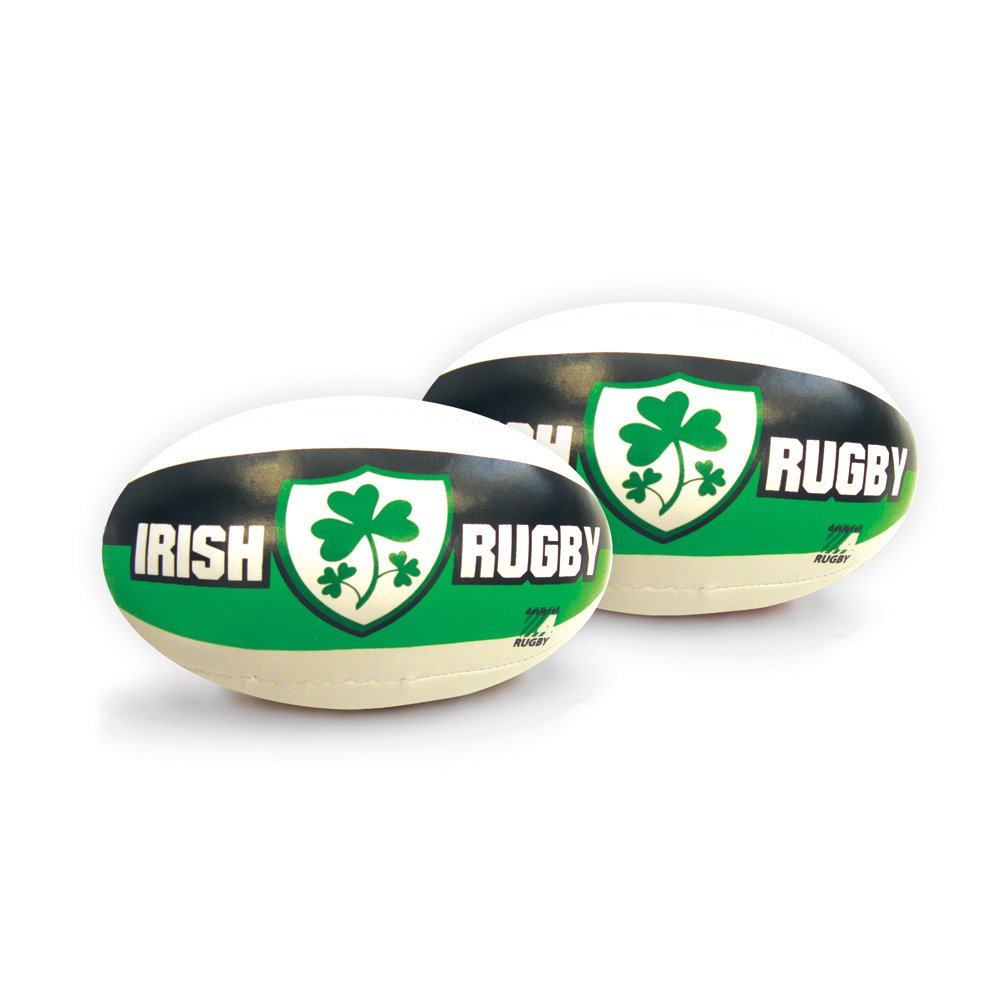 6 Ireland Green White /& Black Rugby Ball With Shamrock Shield