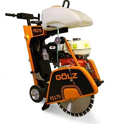 Golz Floor Saw - 13HP Honda gas Engine - Blade Diameter 18'' (450mm) Cutting Depth 6-1/2'' (165mm) 25 Liter water tank by Golz
