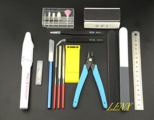 BXQINLENX 15 PCS Gundam Modeler Basic Tools Craft Set For Car Model Assemble Building(C) (Assemble Model)
