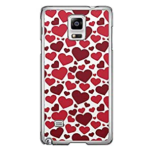 Loud Universe Samsung Galaxy Note 4 Love Valentine Printing Files A Valentine 63 Printed Transparent Edge Case - White/Red