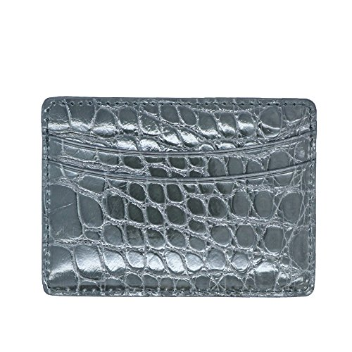 Card Case Genuine Genuine Pocket Alligator 5 Alligator Credit Business 0zwU6RSq