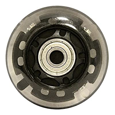 KSS 82A Skate Ripstik Luggage LED Inline Wheels with Bearings (2 Pack), 64mm, Black : Sports & Outdoors [5Bkhe1406020]