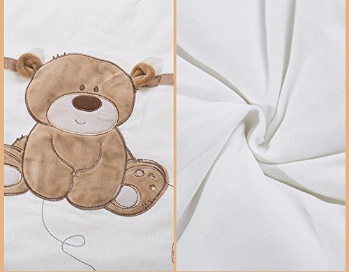 JACKBABYBABY Unisex Baby Bedding Set Cotton 3D Embroidery Bear Quilt Pillow Bumper Bed Sheet 5 Pieces Crib Bedding Set White Color by JACKBABYBABY (Image #6)