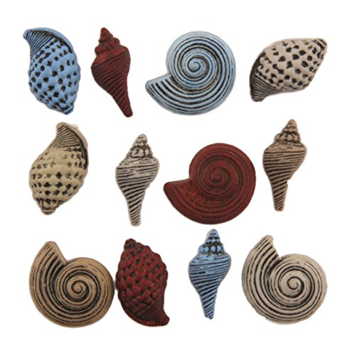 (Buttons Galore Craft & Sewing Buttons - Seashells - 3 Pack)